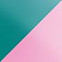 Витраж Изумрудный / Розовый