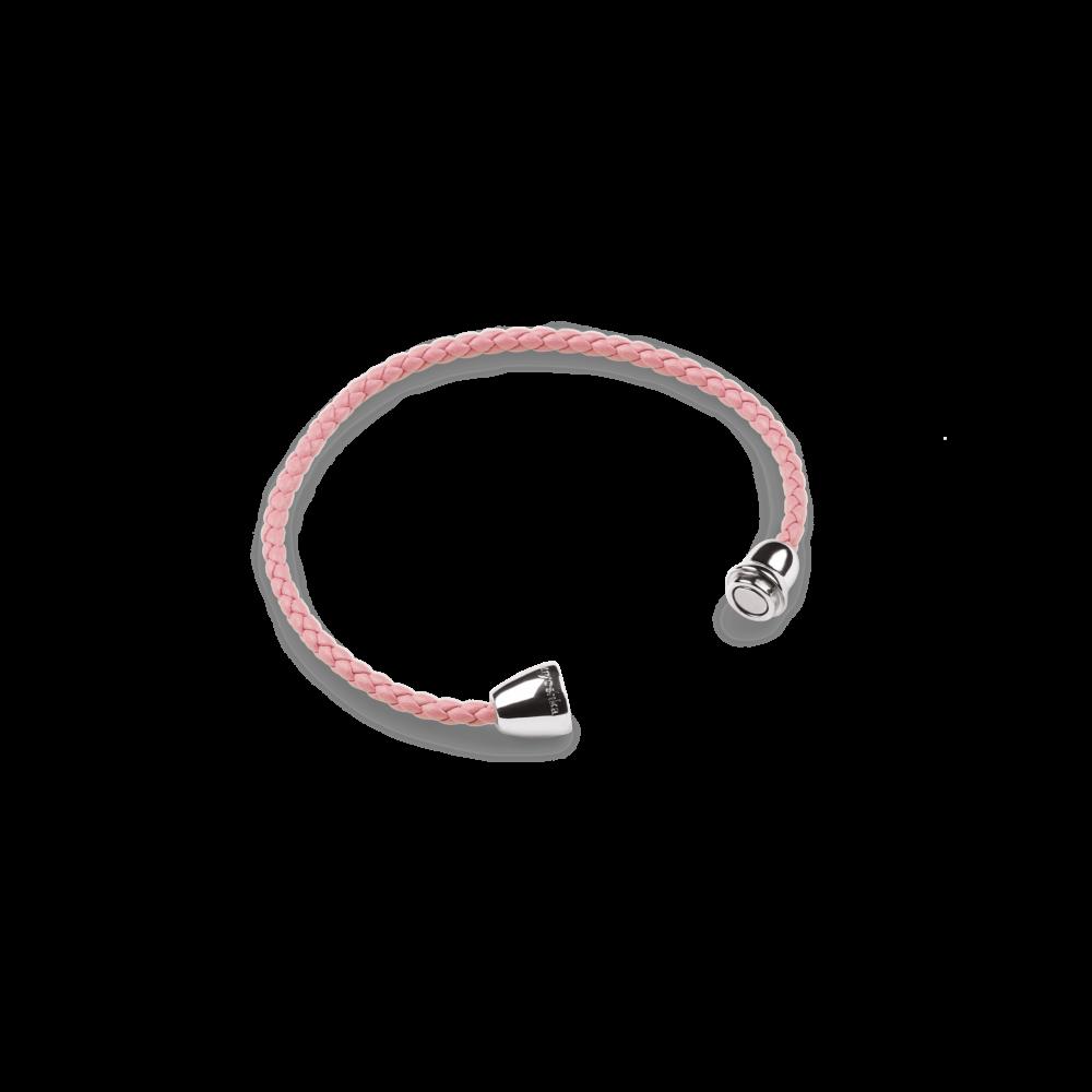 Кожаный браслет Magnetic Silver